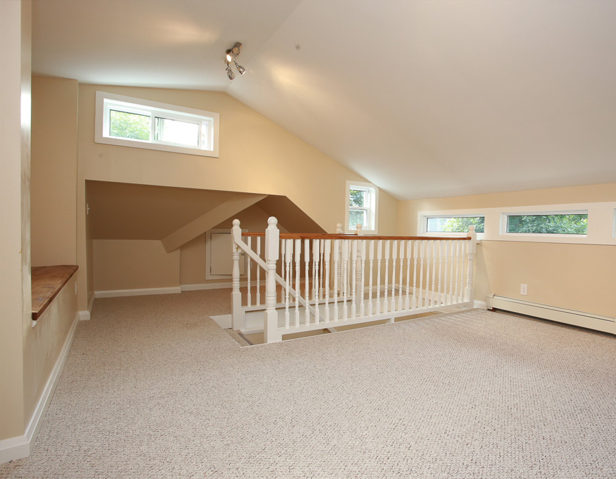 attic converted in family room