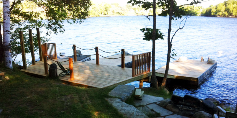deck over lake