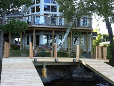 deck planks on heritage home
