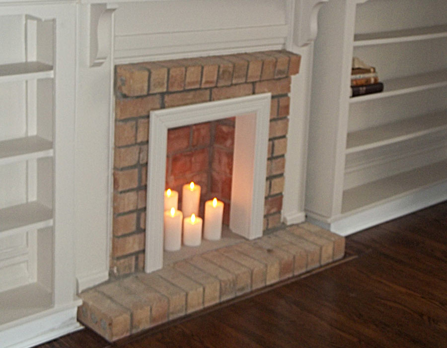 fireplace restoration and built ins